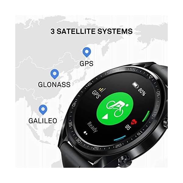 Huawei Watch GT Sport - Reloj (TruSleep, GPS, monitoreo del ritmo cardiaco), Negro 7