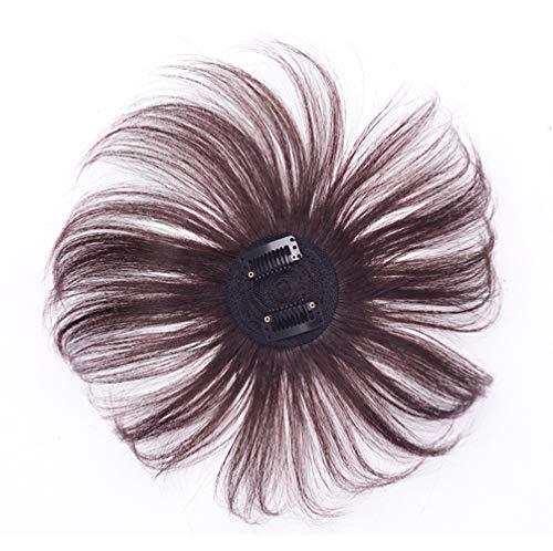 Clip-In Head Spin Top Ersatz-Haarteil, 360 Grad rund, Echthaar
