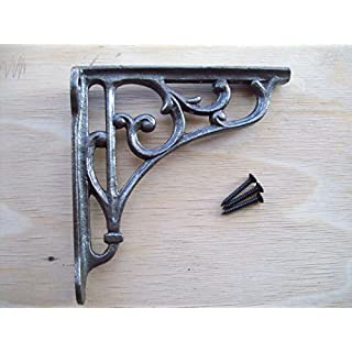 Ironmongery World Cast Iron Victorian Style Scroll Shelf Support Book Sink to.