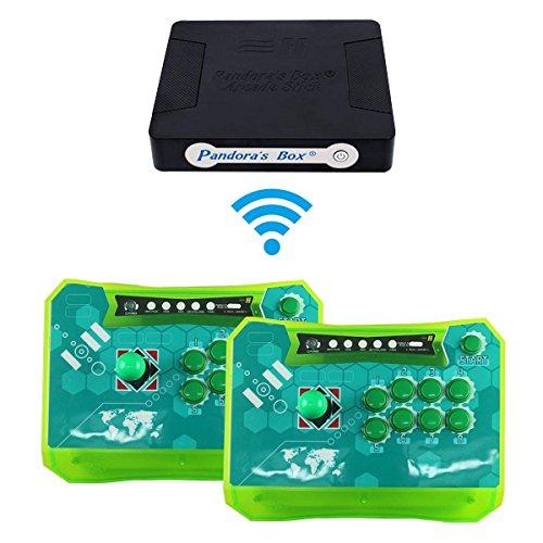 Wisamic Pandora's Box 4s + 815 juegos en 1 Joysticks inalámbrico Arcade Game Controller, compatible con XBOX360 PS3 PC TV Joystick Arcade Control Panel