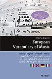 Image de European Vocabulary of Music - Italian, English, G