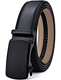 Men's Belt,Bulliant Leather Ratchet Belt for Men 1 3/8,Designed Buckle,Trim to Fit…