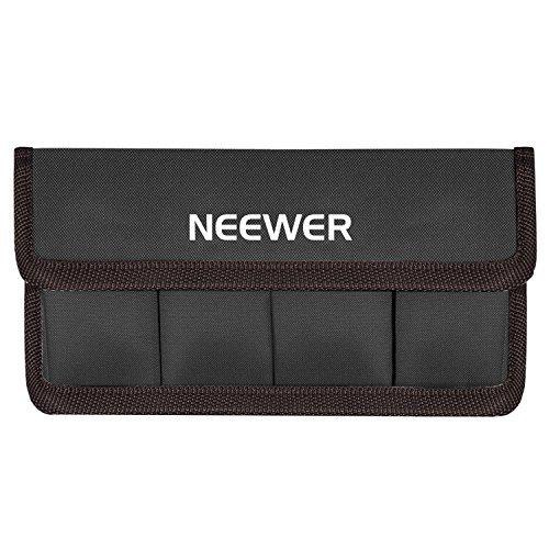 Neewer DSLR Akku Tasche Tasche für AA Batterie und lp-e6 lp-e8 lp-e10 lp-e12 en-el14 en-el15 fw50 f550 und mehr, geeignet für Akku von Nikon D800 Canon 5DMKIII Sony A77 (Kaffee)
