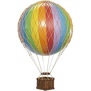 Authentic Models Floating the Skies Hot Air Balloon Replica, Colour: Rainbow