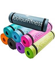 Esterilla para fitness »Yogini« / gruesa y suave, perfecta para pilates, gimnasia y yoga / Medidas: 183 x 61 x 1 cm / negro