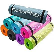 Esterilla para fitness »Yogini« / gruesa y suave, perfecta para pilates, gimnasia y yoga / Colchoneta de yoga / estera de deporte / esterilla de ejercicio / esterilla de gimnasia / esterilla de pilates / esterilla de entrenamiento / Medidas: 183 x 61 x 1 cm / Disponible en diversos colores / verde claro