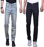 X-CROSS Men's' Slim Fit Jeans Combo- Grey and Black