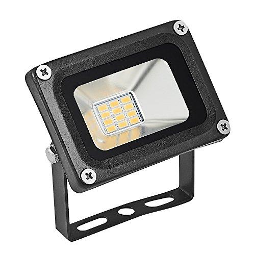 LED Flutlicht Fluter Strahler Spotbeleuchtung, Super helles Arbeitslicht, IP65 imprägniern, 80Lm/w, Warmweiß, 3200K, Sicherheits-im Freien Flutlicht für Garage, Garten, Rasen und Yard