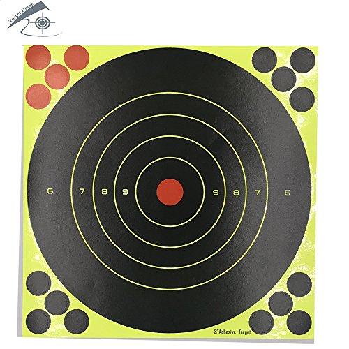 25Stück 20,3x 20,3cm selbstklebend Splatter & Reactive Zielscheiben für gun-pistol-rifle-airsoft-pellet gun- Air Gewehr