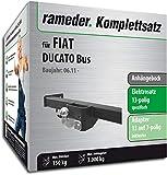 Rameder Komplettsatz, Anhängebock mit 2-Loch-Flanschkugel + 13pol Elektrik für FIAT DUCATO Bus (136497-05630-8)