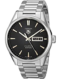 Tag Heuer Men 'S Automatic Watch with Black Dial Analogue Display Stainless Steel WAR201°C. BA0723