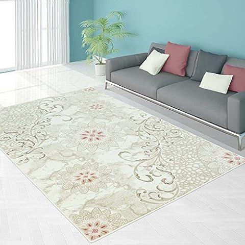 Teppich Modern Designer Wohnzimmer Schlafzimmer Läufer Inspiration Beauty Blume Pastell Blau Pink NEU, Größe in cm:160 x 230