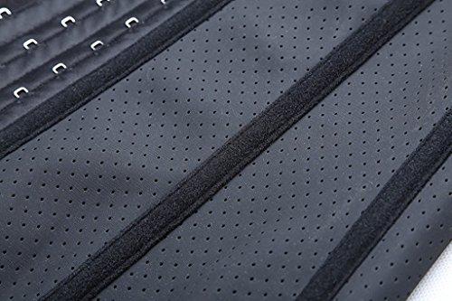 YIANNA Damen Latex Unterbrust Korsett Bauch Weg Body Shaper Cincher Sport Training Taillenmieder Corsage Black Breathable Latex