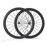 BaiXiang 700C 50mm Clincher 23mm Width Carbon Fiber Road Racing Bike Wheelset