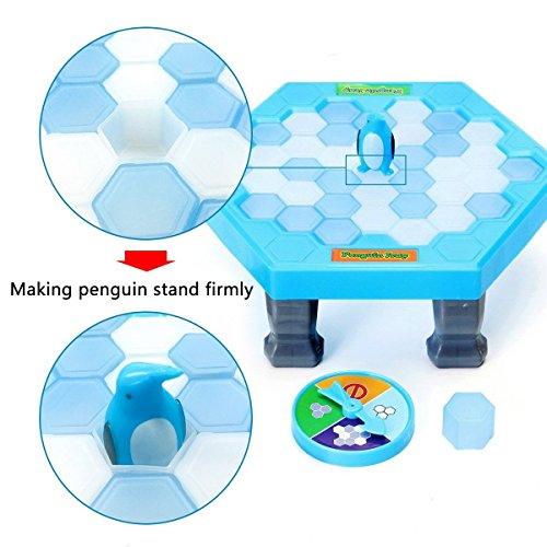 Ruikey Juegos de mesa de rompecabezas Cubos de hielo de equilibrio Guardar Pingüino Icebreaker Knock Ice Block Juego de escritorio interactivo para la fiesta de la familia
