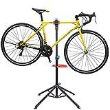 FEMOR Supporto Cavalletto Bici Stand Bicicletta Manutenzione Riparazione Bici Bike Portabici Pieghevole Altezza Regolabile 115-170CM, Girevole in 360°, 4 Gambe per Mantenere L'equilibrio e La Stabilità [ Carico 50KG ]