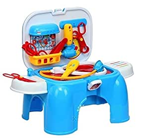 Toyshine Carry Along 2 in 1 Doctor Play Set With Sitting Stool
