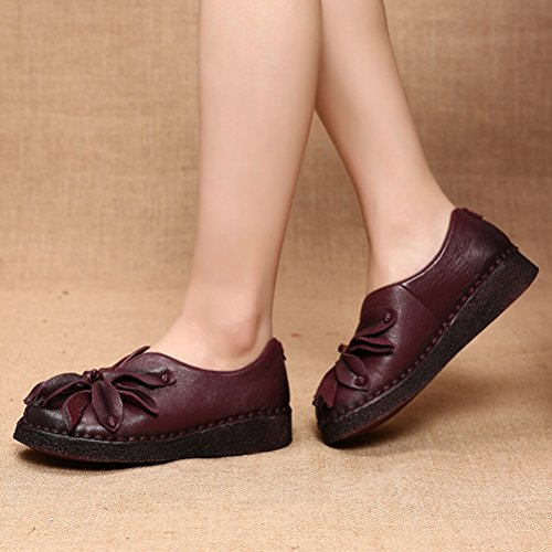 Vogstyle Damen Neue Flache Schuhe Laura Vita Casual Slipper Art 1 Lila