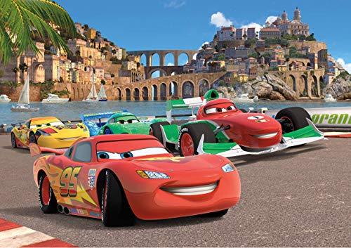 Cars Disney, Papier Fototapete - 360x254 cm - 4 teile, Papier, multicolor, 0,1 x 360 x 254 cm ()