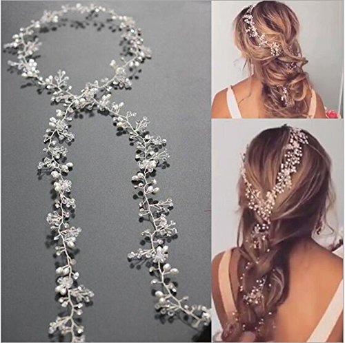 jovono Strassbesatz Haarschmuck Haar Zubehör Hochzeit Kopfband für Frauen (80cm)