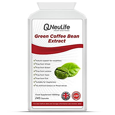 Green Coffee Bean Extract 1000mg - 240 Capsules - by Neulife Health and Fitness from Neulife Health and Fitness