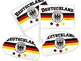 Deutschland Autofahne Autoflagge Spiegelüberzug 4-teiliges Set DE-03 von Alsino
