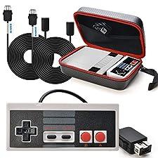 SNES Classic Mini Tasche WADEO NES Controller Usb Nintendo Classic Mini Edition Controller mit SNES Mini Verlängerungskabel 3M/10ft*2 Verlängerung Kabel, Mini Edition Tragetasche