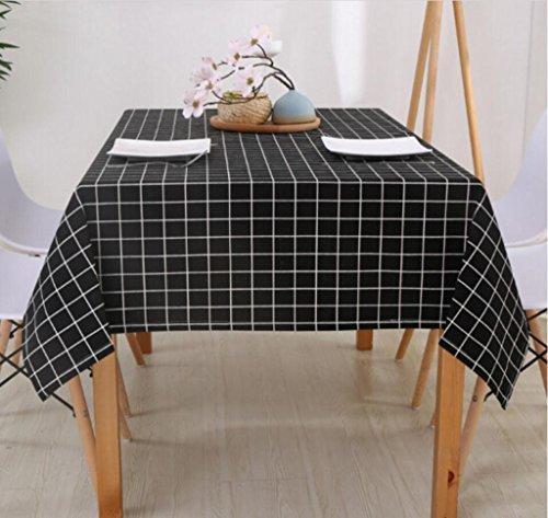 Tischdecke Tischdecken Home Cotton & Western Restaurant Tischdecken, Stand Rechteckige Konferenztisch Tischdecke Stoff 140 * 220cm (Farbe : #1,...