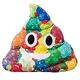 Caca Poop Emoji Peluche Moelleux Housse Coussin - 35x32x8cm Grand Souple Emoticone Oreiller - Jouet Cadeau pour les Garçons, Filles, Enfants