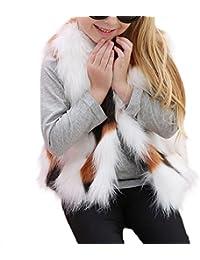 YSTWLKJ Mädchen Winerjacke Wärmemantel Fellweste Parka Coat Übergangsjacke Outwear Oberteil