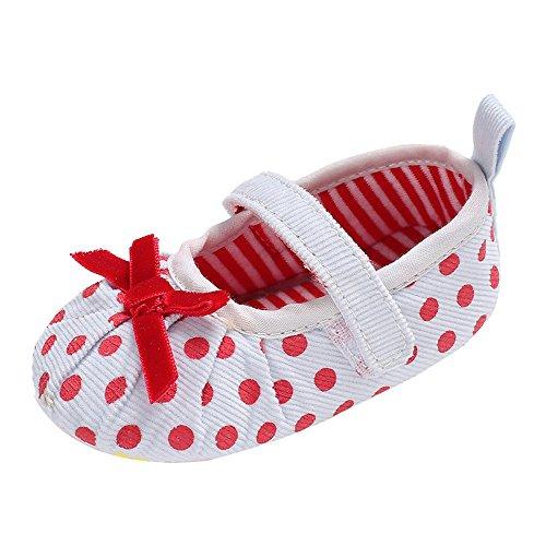 cinnamou Babyschuhe Baby Mädchen Jungen Soft Sole Schuhe Sneakers Casual Süße Leopard Anti-Rutsch-Babyschuhe Krippeschuhe Strandschuh (6-12 Monate, Weiß) (Kleinkind Schuhe Mädchen Crib Schuh)