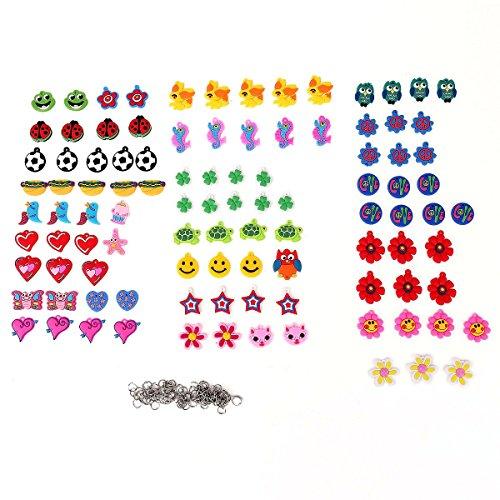Tinksky Set mit 100 Stücke Charms Anhänger Motiv Matrjoschka hübsche Mischung für DIY Gummiringe Armbänder