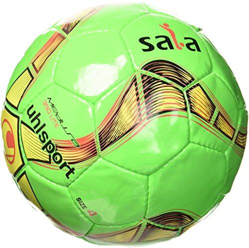 uhlsport Kinder Medusa Anteo 350 Lite Fußball Ball, FL.grün/FL.gelb/Schwarz, 4