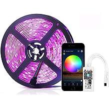 Simfonio Tira LED 5 Metros - Tiras LED Funciona con Alexa, Google Home, IFTTT, WiFi Teléfono Inteligente Inalámbrica Luces LED Kit - Tiras de LED Impermeable 150LEDs 5050 SMD Tira de LED Kit Completo