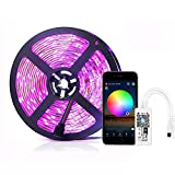 Simfonio LED Strip 5m Lichterkette - LED Streifen Kompatibel mit Alexa, Google Home, IFTTT, Wifi Wireless Smart Phone Gesteuert - LED Stripes 5m Wasserdicht 150Leds 5050 SMD RGB LED Band Full Kit