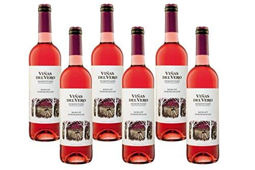 Viñas Del Vero Merlot Tempranillo - Vino D.O. Somontano - 6 Botellas X 750 Ml - Total: 4500 Ml