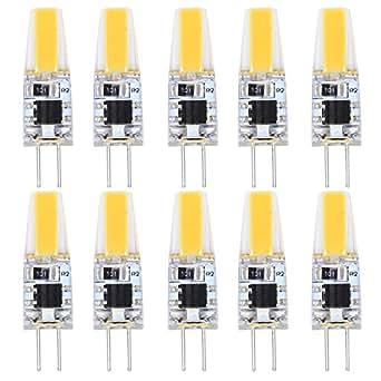 10X G4 Ampoule LED COB LED Bulb 2W Faible Consommation Ampoule Lampe Blanc Chaud 180LM Haute Luminosité Lumiere LED AC 220V-240V