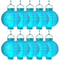 S/o® 10unidades LED farolillos Azul Farol farolillo Jardín Balcón Terraza Fiesta iluminación decoración