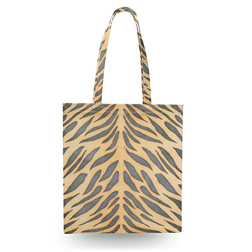 Tiger Print Canvas Tote Bag - Zipper Canvas Tote Bag Shopper Tragetasche (Canvas Tiger Bag Tote)