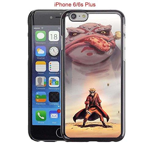 iPhone 6Plus Case, iPhone 6S Plus Fällen, Naruto Sage Mode Drop Schutz Verblasst Nicht Rutschfeste Kratzfest Schwarz Hard Kunststoff Fall (Für Fälle Sechs Iphone Mädchen)