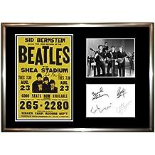 Póster de concierto de The Beatles (1)–firmado–Póster enmarcado pantalla