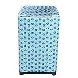 Telo protettivo impermeabile per lavatrice con chiusura lampo, copertura parasole, antipolvere, per lavatrici frontali (55 x 58 x 87 cm).