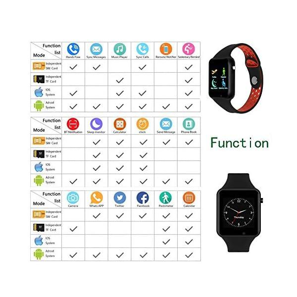 Dr.Haer Reloj Inteligente, M3 Smartwatch Bluetooth Deporte Fitness Tracker con Monitor de Pulso Cardiaco,Rastreador de Ejercicios para iOS, Android Phones,etc 5