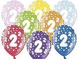 12Globos 30cm de 2º cumpleaños–cumpleaños Infantiles