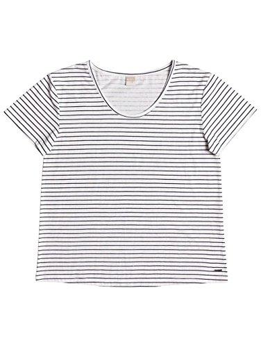 Roxy Just semplice Stripe–T shirt collo rotondo per donna erjzt04056 DRESS BLUE JUST SIMPLE STRIPE