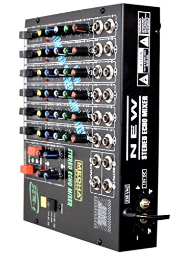 Medha D.J. Plus Sem-6 6 Channels Stereo Echo Mixer