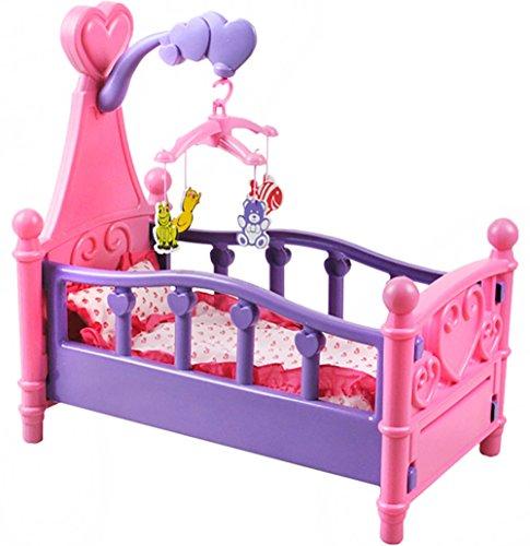 ISO TRADE Cama Grande para muñeca con móvil Cuna y Ropa de Cama 3in1 #1400