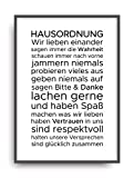 Fine Art Kunstdruck HAUSORDNUNG 1 Poster Print Plakat moderne Vintage Deko Bild DIN A4 Geschenk