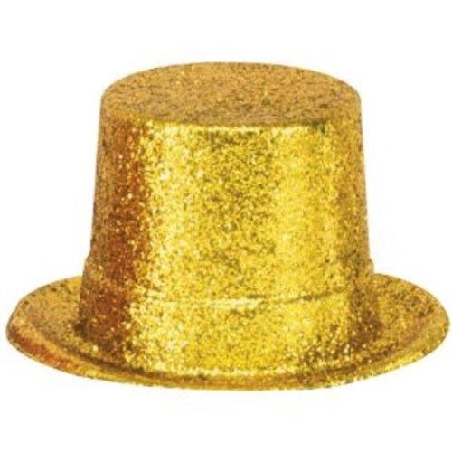 Deko-Glitter-Zylinder, ca. 13 cm hoch, verschiedene FARBEN NACH WAHL (gold) ()
