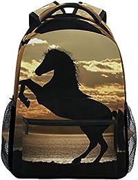 beeabe90b8 COOSUN Cavallo sotto tramonto casual Daypack sacchetto di scuola dello zaino  di viaggio Multicolore